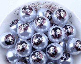 Florida State University Seminoles beads -Qty:10