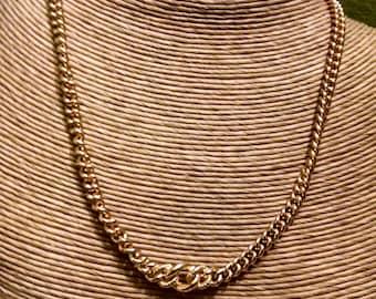 Vintage Designer Signed Christian Dior Gold Toned Necklace