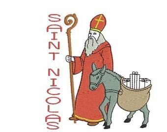 Instant Download embroidery design Saint Nicolas