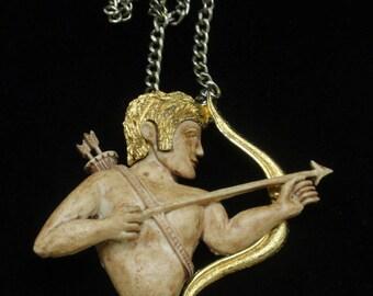 Razza Sagittarius Zodiac Necklace Vintage