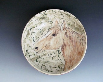 Ceramic Horse Bowl Etsy
