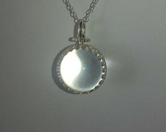 Pools of Light, Crystal Ball, Un-drilled Clear Quartz Pendant, Victorian Style, Gazing Ball,