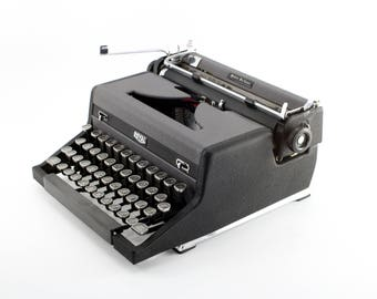 Royal Quiet De Luxe Manual Typewriter - Reconditioned Working Black and Gray Vintage Typewriter - Portable Typewriter - Excellent Condition