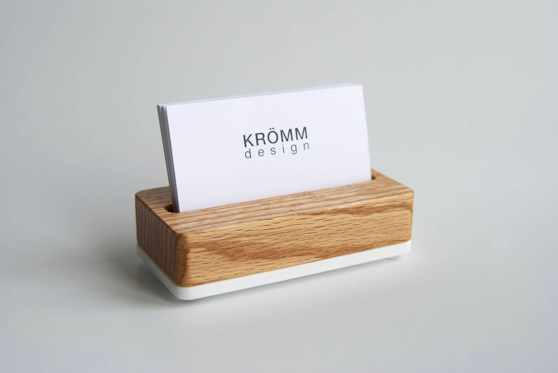 Single Card Oak Wood Stand / Business Card Stand / Oak Wood and ...