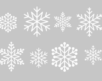 Set of Snowflake Decals | Snowflake Window Decals | Snowflake Car decals | Christmas Decal | Christmas Sticker