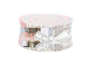 "Moda Fabrics - Lily & Will Revisited by Bunny Hill Jelly Roll 2.5"" Precut Fabric Quilting Cotton Strips"