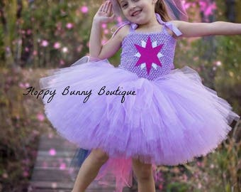 Unicorn Collection: Little Pony Tutu Dress Set, Birthday, photo prop, Holloween, Twilight Sparkle Costume
