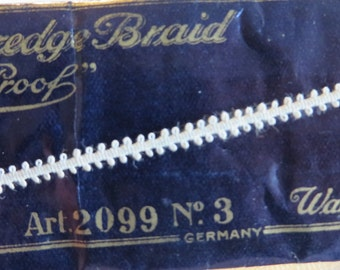 "Trim ""Braid"" Looped Trim or Edging  //  New OLD Stock  //  2 Packages totally 12 Yards  //  Small Off White Trim  //  Vintage Trim or Edging"
