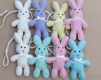 Handmade Felt Bunny Rabbit Bunting / Garland