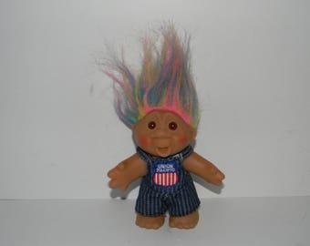 "Vintage 1986 Norfin DAM Union Pacific Railroad Troll Doll 5"""
