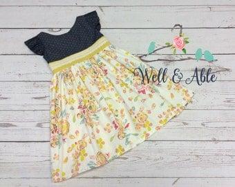 Vintage floral June dress/5t