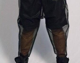BLK.LABEL.X Mesh Harem Pants Black Sheer