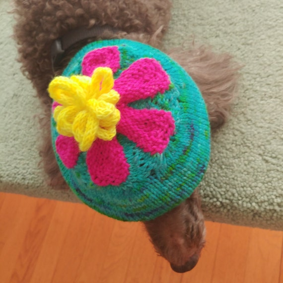 Flower Petal  Hat Kit by Xandy Peters - MollyGirl - Complete Kit Pattern & Yarn - Knit Stacked Stitches Hat
