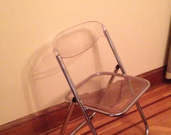 Set of 4 Vintage Folding Lucite Chairs