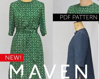 The Rochester Top and Dress PDF sewing pattern, tunic sewing pattern, womens sewing pattern, top pattern, tunic pattern, dress pattern, PDF