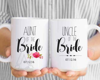 aunt of the bride gift, personalized mugs, uncle of the bride  gifts ,wedding gifts for aunt, aunt of the bride, gift from groom MU44