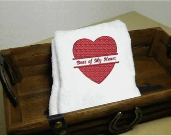 Wedding Hand Towel, hand towel, towels, bath towel, home and living, bath decor, personalized towels, decorative towels, housewarming gift