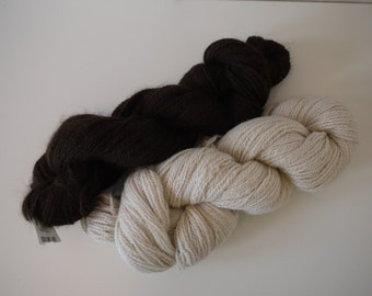 100% Manitoba Alpaca laceweight yarn. Skeins are 113g, 550 metres each. Natural Colours