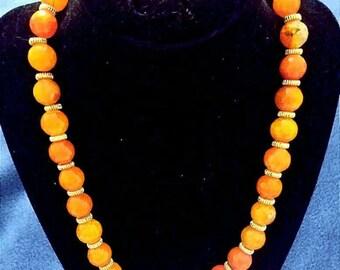 Orange agate necklace