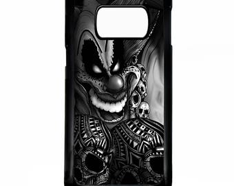 Clown jester joker circus supernatural art tattoo graphic skull rubber gel silicone cover for samsung galaxy s5 s6 s7 edge phone case cover