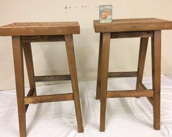 Barn wood bar stools