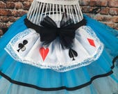 Neon Blue Tutu Skirt Alice In Wonderland Fancy Dress Hen Party Book Week