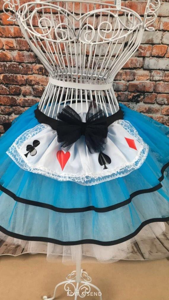 Neon Blue Tutu Skirt Alice In Wonderland Fancy Dress