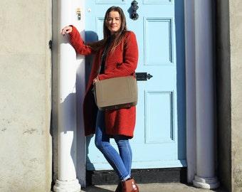 Leather Bag Grey / Grey Leather Purse / Grey Leather Bag / Grey Leather Handbag / Leather Handbag / Leather Satchel / Grey Leather Satchel