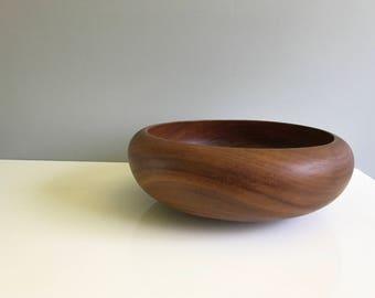 Mid Century Teak Wooden Bowl / Large Teak Bowl / Large Wood Bowl