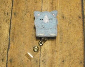Blue Rhino, felt badge reel, name badge holder, nurse badge, ID holder, badge reel, retractable badge clip, feltie badge reel