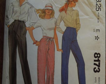 McCalls 8173, size 12, pants, trousers, sewing pattern, craft supplies