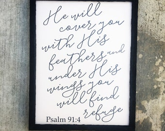 Psalm 91:4 sign