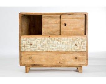 Design convenient wood 2 drawer