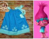Princess Poppy Dress,Poppy Dress, Poppy Troll Birthday Outfit, Princess Poppy Tutu, Poppy Troll Dress Tutu, Yellow Dress, Belle