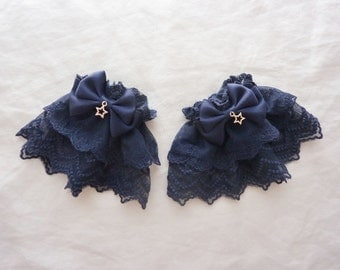 Starry Night Navy Wrist Cuffs (2 set)