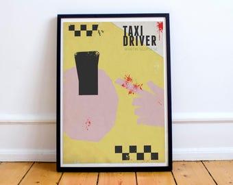 Taxi Driver Martin Scorse, cartel de película, Robert De Niro, Harvey Keitel, película de culto, giclee Fine Art Print, antiguo clásico,