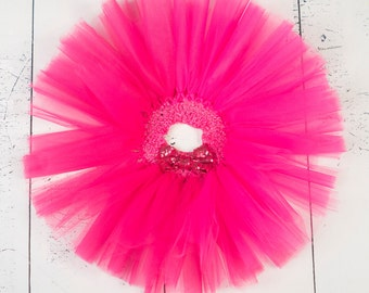 HOT PINK TUTU, Girls Hot Pink Tutu, Girls Fuschia Tutu, Baby Tutu, Infant Tutu, Newborn Tutu, Toddler Tutu, Baby Pink Tutu, Birthday Tutu