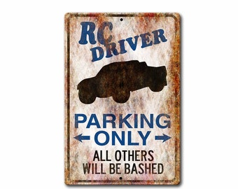 RC Car,Remote Control Truck,RC Driver,Vintage Sign,Metal Sign,RC Sign, rc Gift,r/c,personalized Metal sign,SS1_028