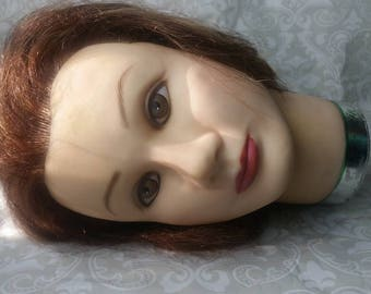 Mannequin Head Hat Jewelry Display I Vintage Mannequin Hair Hat Jewelry Stand Display I Esty Ebay Merchant Supplies I Female Mannequin Head