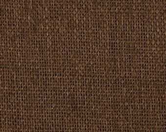 "48"" Inch Dark Brown Burlap - By The Yard"