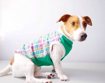 Dog clothing/tank/colorful plaid tank