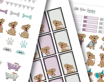 My Little Pup Color Medley: Aurora Planner Stickers -Instant Download, printable sticker kit, eclp stickers