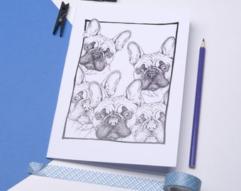French Bulldog Notebook. A5 Journal with Frenchie. Cute Dog Notebook Gift. Stocking Filler. Plain pages