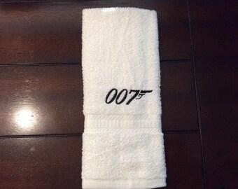 towel set with James Bond symbols/007/Bond