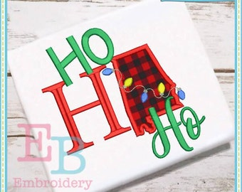 Ho Ho Ho Alabama Applique - This design is to be used on an embroidery machine. Instant Download