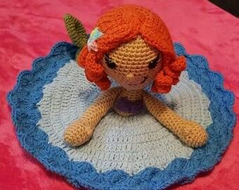 Mermaid Lovey, Security Blanket, Doll