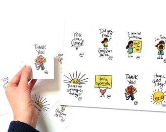 PRINTABLE Random Acts of Kindness & Encouragement Cards set of 8 // Digital Download
