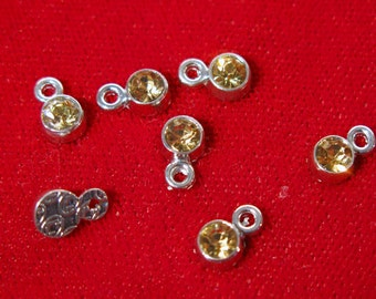 "BULK! 50pc 5mm ""gold style"" color charms in antique silver style (BC1145B)"