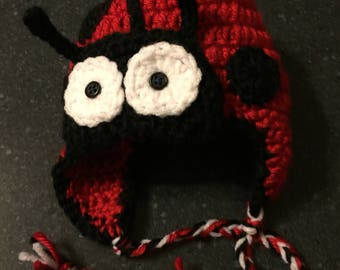 Newborn Lady Bug Hat