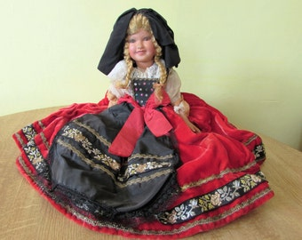 Large Stunning Antique/Vintage Old French Doll With Celluliod  Painted Face.